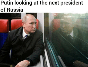 srsfunny:  Unique photo: Putin looking at the next president  of Russia srsfunny:  Unique photo