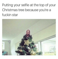 bitch im the shit 💁🏻: Putting your selfie at the top of your  Christmas tree because you're a  fuckin star bitch im the shit 💁🏻