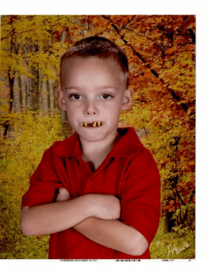 My niece's son thought this would make a great school photo.: PVO63683RO 0012746825 141 G11  174406 XXFT My niece's son thought this would make a great school photo.