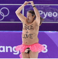 Instagram, Love, and Memes: pyeo  LOVE  ang Ever seen a fat guy in a tutu try to streak the Olympics with his wiener tucked firmly in a monkey penis holder? Well, good news … we have even more in our Instagram Story. 😱 olympics streaker tmz tmzsports figureskating