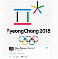 The hatred from players is starting to roll in on twitter... TheKing Olympics NHLDiscussion Vlasic Canada Sweden WeWantOlympics: PyeongChang 2018  Marc-Edouard Vlasic  @Vlasic44.  3:36 PM 3 Apr 2017  V 1.730  t 974 The hatred from players is starting to roll in on twitter... TheKing Olympics NHLDiscussion Vlasic Canada Sweden WeWantOlympics