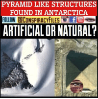 """Double tap and tag a friend! ViewPreviousPost WATCH FULL VIDEO ON FACEBOOK! (Link in bio) SUBSCRIBE ON YOUTUBE! @conspiracyfiles YouTube Three ancient pyramids have been discovered in the Antarctic by a team of American and European scientists. Two of the pyramids were discovered about 16 kilometers inland, while the third one was very close to the coastline. A few pictures were posted on some web-sites with a commentary that the strange structures could serve evidence that the ice-covered continent used to be warm enough to have had an ancient civilization living there. At the current moment little is still known about the pyramids. If researchers prove the pyramids are man-made structures, the discovery may bring about the biggest revision of human history ever made. Meanwhile, a number of strange but interesting discoveries have been made lately in the Antarctic. In 2009 climate scientists found particles of pollen there, which could possibly testify that palm trees once grew in Antarctica and summer temperatures reached 21C. Three years later, in 2012, scientists from Nevada's Desert Research Institute identified 32 species of bacteria in samples of waters of Lake Vida in East Antarctica. """"Can it be possible that Antarctica was once warm enough in the recent past to actually have had an ancient civilization living there? And even more perplexing is the question of if an advanced culture did develop there, are there any structures still remaining that are buried underneath the ice? I will let you be the judge on if these pictures truly display artificial pyramids or just the rocky tops of mountains but the images are intriguing and definitely warrant further research in my opinion. (Comment your thoughts below👇🏼) ConspiracyFiles ConspiracyFiles2 CorporationSlayer PyramidsInAntarctica Pyramid Antarctica AdvancedCivilization UFO Aliens Area51 NewWorldOrder IlluminatiPuppets Illuminati SatanicIndustry ConspiracyFact Conspiracy ConspiracyTheory ConspiracyTheories Con"""