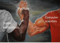 Common, Computer, and Snake: Python  Computer  scientists  Snake  enthusiasts Another common denominator