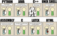 """If programming languages were an essay: PYTHON  JAVA  C++ UNIX SHELL  THIS IS PLAGIARISM  I DON'T HAVE PERMISSION TO  I'M TWO PAGES IN AND ISTILL  I ASKED FOR ONE COPY,  READ THS  YOU CAN'T JUST """"IMPORT ESSAY.""""  HAVE NO IDEA WHAT YOURE SA ING.  NOT FOUR HUNDRED.  C LATEX  HTML  THIS IS GREAT, BUT YOU FORGOT TO ADD  YOUR PAPER MAKES NO GODDAMN SENSE  DID YOU REAuy HAVE TO REDEFNE EVERY  THIS IS A  FLOWER POT.  BUT IT'S THE MOST BEAUTFUL THING  A NULL TERMINATOR NOW I M JUST READING  WORD N THE ENGUSH LANGUAGE?  GARBAGE.  HAVE EVER LAD EYES ON.  2010-201 If programming languages were an essay"""