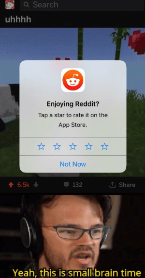 Q Search Uhhhh Enjoying Reddit? Tap a Star to Rate It on the