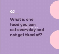 Crazy, Food, and Tumblr: Q3  What is one  food you can  eat everyday and  not get tired of?  sarmyzona kiingtaehyuung:how did namjoon maintain his cool? i would have burst out laughing like a crazy hyena. that's real professionalism right here shown by our amazing leader.