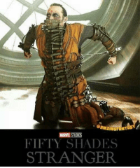 9gag, Doctor, and Memes: QAMZINGFANT  MARE STUDIOS  FIFTY SHADES  STRANGER Mr.Doctor....?  #http://9gag.com/gag/aAdwbYo