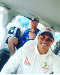 Memes, 🤖, and Stadium: QANTAS  2017  four of India  419 Usman Khawaja on his way to stadium before practice session