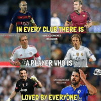 Instagram, Memes, and Soccer: QATAR  AIRWAS  IN EVERY CLUBTHERE is  AMSOCCERMEMES  IAMSOCCERMEMES  INSTAGRAM.  Fly  nirates  A PLAYER WHO IS  AMSOCCERMEMES  INSTAGRAM.  Jeep  LOVED BY EVERYONEMA @instatroll.soccer