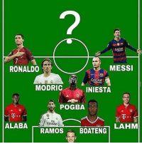 Memes, Messi, and Qatar: QATAR  MESSI  RONALDO  QATAR  MODRIC  INIESTA  POGBA  Ely  ALABA  LAHM  RAMOS  BOATENG Who would you pick up top?!