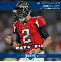 TWO. DAYS.  The #NFLDraft is almost here! https://t.co/2a2aoyXMuJ: QB BOSTON COLLEGE  2008 NFL DRAFT  RD 113RD OVERALL  NFL  FALLENS  APRIL 27-29  DRAFT  NFL  Marwanns  2017 TWO. DAYS.  The #NFLDraft is almost here! https://t.co/2a2aoyXMuJ
