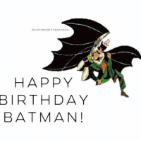"""Good morning Gothamites and wish Batman a very Happy 78th Birthday! Today, March 30th, marks the 78th anniversary of the Dark Knight's first appearance debut in Detective Comics (Vol 1) 27 from May 1939! This weekend we will begin our week long celebratory history session """"Batman's Year One in Detective Comics""""! Many have asked in the past why DC Entertainment recognizes Batman's birthday at the end of March and not in May. Due to the company's basing on the historical data from the Registrar of Copyrights, we celebrate March 30th instead of May because it was common practice in 1939 for publications to go on sale prior to their indicated cover date. Thus, while the Bat-Man (as he was then known) first appeared in the May 1939 cover-dated issue of Detective Comics 27, that issue actually hit newsstands on March 30, 1939. This practice still applies today Gothamites and you can check out on new comics in your local shop! There's always history to learn about the Batman. Thanks for following and stay tuned for the creation of the Bat-Man and a look at Detective Comics 27 from 1939! Happy Birthday Batman! ✌🏼️💙💛🦇📖🎉: QHISTORY OF THE BATMAN  HAPPY  BIRTHDAY  BATMAN! Good morning Gothamites and wish Batman a very Happy 78th Birthday! Today, March 30th, marks the 78th anniversary of the Dark Knight's first appearance debut in Detective Comics (Vol 1) 27 from May 1939! This weekend we will begin our week long celebratory history session """"Batman's Year One in Detective Comics""""! Many have asked in the past why DC Entertainment recognizes Batman's birthday at the end of March and not in May. Due to the company's basing on the historical data from the Registrar of Copyrights, we celebrate March 30th instead of May because it was common practice in 1939 for publications to go on sale prior to their indicated cover date. Thus, while the Bat-Man (as he was then known) first appeared in the May 1939 cover-dated issue of Detective Comics 27, that issue actually hit newsstands on Marc"""