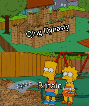 Time to bombard Canton: Qing Dynasty  @historymemesuk  Opium  tain  European  owers Time to bombard Canton