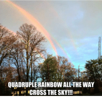 Memes, 🤖, and Gold: QUADRUPLERAINBOW ALL THE WAY  inr CROSS THE SKY We just hit the pot of gold jackpot!