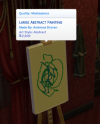 Target, Tumblr, and Blog: Quality: Masterpiece  LARGE ABSTRACT PAINTING  Made By: Ambrose Draven  Art Style: Abstract  S2.609 simsgonewrong:I guess anything counts as a master piece now a days…