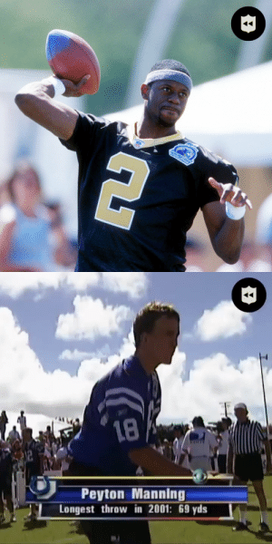 Quarterbacks putting their arm strength to the test at the 2002 Pro Bowl QB Challenge! (via @nflthrowback) https://t.co/R282ZfNJ0S: Quarterbacks putting their arm strength to the test at the 2002 Pro Bowl QB Challenge! (via @nflthrowback) https://t.co/R282ZfNJ0S