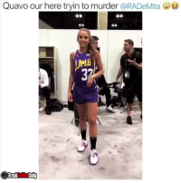 Funny, Quavo, and Murder: Quavo our here tryin to murder @RADeMita  Breaknities Daily Gaaawdannmm Quavo 🤦🏾♀️😩 nbaallstarweekend Via @breakanklesdaily