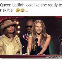 Queen Latifah, Memes, and 🤖: Queen Latifah look like she ready to  risk it all  @mimisorCRC 👀😅😅😅 petty