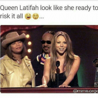 Queen Latifah, Memes, and 🤖: Queen Latifah look like she ready to  risk it all  @mimisorgC She ready to eat that from the back! 😂😂😂