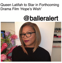 "Children, Community, and Queen Latifah: Queen Latifah to Star in Forthcoming  Drama Film 'Hope's Wish'  @balleralert Queen Latifah to Star in Forthcoming Drama Film 'Hope's Wish' - blogged by: @ashleytearra ⠀⠀⠀⠀⠀⠀⠀ ⠀⠀⠀⠀⠀⠀⠀ QueenLatifah is headed back to the big screen. ⠀⠀⠀⠀⠀⠀⠀ ⠀⠀⠀⠀⠀⠀⠀ The 47-year-old is set to star in the upcoming inspirational film, 'Hope's Wish', Deadline reports. ⠀⠀⠀⠀⠀⠀⠀ ⠀⠀⠀⠀⠀⠀⠀ Based on a true story, the film centers 12-year-old Hope Stout and how she once turned her pain into purpose. ⠀⠀⠀⠀⠀⠀⠀ ⠀⠀⠀⠀⠀⠀⠀ After being diagnosed with a bone cancer, Stout embarks on a mission to fund the wishes of nearly 155 other children. However, along the way, she gains the help of Make-A-Wish Foundation executive Toni Dubois (Latifah) and the Charlotte, North Carolina community. ⠀⠀⠀⠀⠀⠀⠀ ⠀⠀⠀⠀⠀⠀⠀ Written by Diana Ossana ('Brokeback Mountain') and said to be directed by Laurie Collyer, 'Hope's Wish' is adapted from Stuart and Shelby Stout's acclaimed book, ""Hope's Wish: How One Girl's Dream Made Others Come True."" ⠀⠀⠀⠀⠀⠀⠀ ⠀⠀⠀⠀⠀⠀⠀ Alcon Entertainment, Torridon-16:14, and Walden Media will serve as the film's producers, which officially begins production on April 9th in Charlotte."