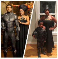 Queen Ramonda & Black Panther cosplay done by Sidney Logan and her son!  (Andrew Gifford): Queen Ramonda & Black Panther cosplay done by Sidney Logan and her son!  (Andrew Gifford)