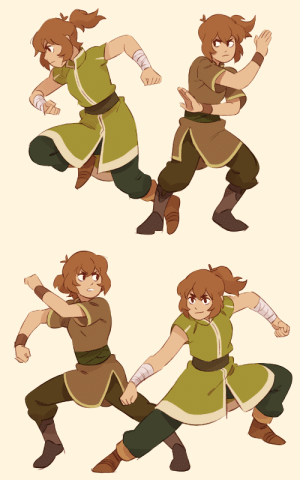 Target, Tumblr, and Queen: queen-romelle: Earthbender Pidge. Outfits are from the LoK artbook.