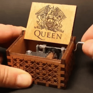 trendyfinds:  Original hand crank Music Box, just turn the handle and it will play this well-known tune by Queen. Try on wood or glass or different surfaces for a new sound. This music box makes a great gift for any music lover.  Check them out HERE: QUEEN trendyfinds:  Original hand crank Music Box, just turn the handle and it will play this well-known tune by Queen. Try on wood or glass or different surfaces for a new sound. This music box makes a great gift for any music lover.  Check them out HERE