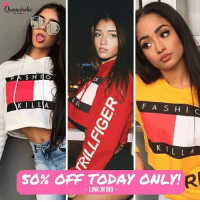 0089fd41050085 Queeraholio KIL LA F AS HI C K 1 50% OFF TODAY ONLY! LINK IN BIO Ladies It  Took Some Work but I ve Hooked You Guys Up With 50% Off Fashion Killa ...