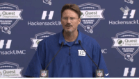 Ben McAdoo looks like the manager of a struggling hot tub outlet store.: Quest  Diagnostics  TRAINING  Hackensack UN  nsack UMC  Quest  NFL  Diagnostics  Quest  Diagnostics  Hackensack  TRAINING  CENTER  Quest  TRAINING  AC  CENTER  NFL Ben McAdoo looks like the manager of a struggling hot tub outlet store.