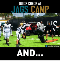 Memes, 🤖, and How: QUICK CHECK AT  JAGS CAMP  @mike e_kaye  AND. Let's see how the Jaguars are doing...