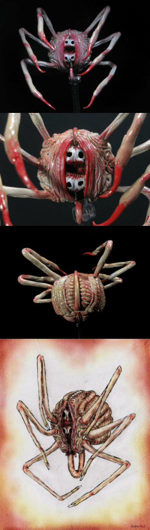 Monster, Tumblr, and Twitter: Quinn Red quinnred:So MantisAbbey did ANOTHER surprise sculpt of one of my DND horror monster designs. THE CONTEMPLOR! (aka beholder equivalent) https://twitter.com/Mantisabbey/status/962417917659963392