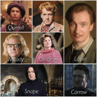 Quirrell Moody Snape Lupin Carrow The Seven Defense Against The