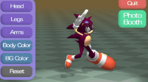 Now we can all participate in the kitschy nightmares of Sonic fan ...: Quit  Head  Legs  Arms  Body Color  BG Color  Reset  Photo  Booth Now we can all participate in the kitschy nightmares of Sonic fan ...