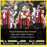 Did you know that...  Join our backup page 8Football: R 8fact Football  This is the first time Bournemouth  have ever scored +5 goals in  a single Premier League game.  8factFootball  8fact football  8 fact football Did you know that...  Join our backup page 8Football