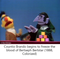 Even Snuffywagon is afraid!: /r/BertStrips  Countio Brando begins to freeze the  blood of Bertseph Bertstar (1888,  Colorized) Even Snuffywagon is afraid!