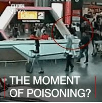 Apparently, Kim Jong-Un, and Memes: R BIC  THE MOMENT  OF POISONING? ​21 FEB: Malaysian officials say the cause of death of the half-brother of the North Korean leader, Kim Jong-un, has still not been determined. Kim Jong-nam died last week after apparently being poisoned at Kuala Lumpur airport. A video which apparently shows CCTV footage of the attack on Kim Jong-nam has aired on Japanese television. 🎥: Fuji TV. Find out more: bbc.in-kimjongnamcctv Malaysia KualaLumpur NorthKorea KimJongnam KimJongun BBCShorts BBCNews @BBCNews