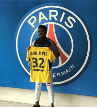 PSG have confirmed the signing of Brazilian right-back DaniAlves: R/  DANI ALVES  32  ERMAIN PSG have confirmed the signing of Brazilian right-back DaniAlves