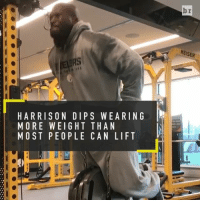 Even at age 38, @jhharrison92 is still going hard in the weight room 💪💪: r  KEISER  RS  HARRISON DIPS WEARING  MORE WEIGHT THAN  MOST PEOPLE CAN LIFT  b  NT  RI  AL  EN  WAN  HA  STC  ITE  DHL  GP  NIO  011 E  SWP  RET  RRS  A00  HMM Even at age 38, @jhharrison92 is still going hard in the weight room 💪💪
