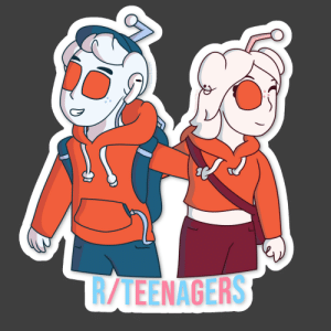 Good, Happy, and Quite: R/TEENAGERS  /BaranaBread A different concept for the r/teenagers Snoo (and her design is my entry into the r/feemagers logo contest). Spent a good few hours on this and quite happy with how it turned out!