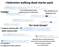 """Friends, Martin, and News: r/television walking dead starter pack  The Walking Dead's Ratings Are Not Going To Recover, No Matter What Changes Are Made  965 points 444 comments submitted 5 days ago by BunyipPouchto r/television  co https://www.forbes.com/sites/insertcoin/2018/04/07/the-walking-deads-ratings-are-not-going-to-recover-no-matter-what-changes-are-made/  """"Stop complaining about people  """"They should focus on  finding the cure  """"COARL""""  complaining about the walking dead""""  The Walking Dead executive producer David Alpert claims the show's ratings  decline is due to a """"loss of urgency to watch programs live""""  444 points 318 comments submitted 3 months ago by Chees3tacos to r/television  co http://comicbook.com/thewalkingdead/2017/12/29/the-walking-dead-ratings-decline-misleading-/  The Walking Dead' Ratings Hit 5-Year Finale Low With Season 7 Ender  3,039 points 1,358 comments submitted 1 year ago by NeilPoonHandler  co http://deadline.com/2017/04/the-walking-dead-ratings-finale-down-sonequa-martin-green-amc-1202060376/amp/  to r/television  The Walking Dead' ratings at their lowest point since Season 1  1,070 points 433 comments submitted 1 month ago by magikarpcatcher to r/television  co http://tvbythenumbers.zap2it.com/daily-ratings/sunday-cable-ratings-march-4-2018/  TV Ratings: 'The Walking Dead Hits 5-Year Premiere Low  515 points 374 comments submitted S months ago by NeilPoonHandler  co http://www.hollywoodreporter.com/live-feed/tv-ratings-walking-dead-hits-5-year-premiere-low-1051102  The Walking Dead's ratings stumble to their lowest since Season 2  722 points 469 comments submitted 5 months ago by Wewlad696969 to r/television  co http://tvbythenumbers.zap2it.com/daily-ratings/sunday-cable-ratings-oct-29-2017/  """"Grr Scott Gimple  I stopped watching afterl The Walking Dead falls to its lowest ratings since Season 2  INSERT SEASON HERE""""co  /r/all  28,550 points 7,020 comments submitted 4 months ago by SimplyMe94 to r/television  co https://headlinepl"""