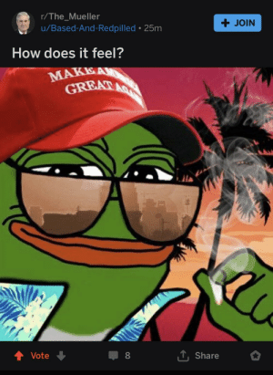 Disappointed, Thought, and How: r/The_Mueller  u/Based-And-Redpilled . 25m  + JOIN  How does it feel?  T Share  Vote  8 Thought I'd check out the salt mine over on T_M, was not disappointed. WE HAVE THE BRAVEST PEDES DON'T WE FOLKS?