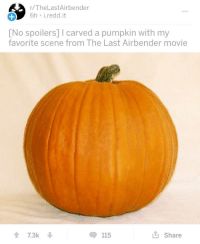 """<p>Worth investing in? via /r/MemeEconomy <a href=""""http://ift.tt/2gM6zZv"""">http://ift.tt/2gM6zZv</a></p>: r/TheLastAirbender  6h i.redd.it  [No spoilers] I carved a pumpkin with my  favorite scene from The Last Airbender movie  17.3k  ◆ 115  Share <p>Worth investing in? via /r/MemeEconomy <a href=""""http://ift.tt/2gM6zZv"""">http://ift.tt/2gM6zZv</a></p>"""