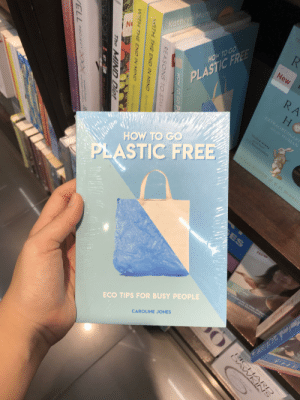 Facepalm, Book, and Free: R  UN  Kathryp Mannix  New  HOW TO GO  RA  PLASTIC FREE  H  1XTRAORDINARY  fie Rhe 11UMAN  Medi wnthg  **** o  viR dsn  ALLAN BOPTER D O. BLRREL  HOW TO GO  PLASTIC FREE  ES  New  ECO TIPS FOR BUSY PEOPLE  7h  CAROLINE JONES  BRHANR  e** Ti  t h  HOW TO GOP  REASONS TO STAX  4ITH THE END IN MINDKethr  H7H THE END IN MIND  NO  The  MIND DIet  PROJECT DXCAQC.  773 First step in going plastic free, get a book covered in plastic.