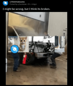 i agree: r/Wellthatsucks  Posted by u/tszdabee 5h i.imgur  I might be wrong, but I think its broken. i agree