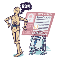 """R2?!  OOPS, IG-88D!  Lol#937?  400  :00  THE  VERY  NEAR  FUTURE  es"""" -- Ransomware"""