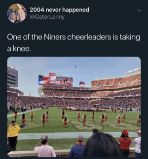 A legend by 2035502855jr MORE MEMES: R2004 never happened  @GatorLenny  One of the Niners cheerleaders is taking  a knee  Levis A legend by 2035502855jr MORE MEMES