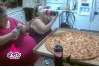 "Ghetto, Pizza, and Http: R7  ghetto  redhot <p><strong>She got the ranch dressing too</strong></p><p><a href=""http://www.ghettoredhot.com/biggest-pizza-ever/"">http://www.ghettoredhot.com/biggest-pizza-ever/</a></p>"