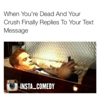 Crush, Finals, and Funny: When You're Dead And Your  Crush Finally Replies To Your Text  Message  INSTA COMEDY Damn gurl, about time you hit me up 😭😭😭