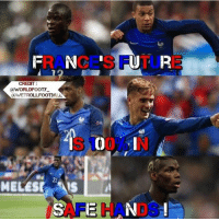 The future is bright for France 👌🏻 ... 🔺FREE FOOTBALL EMOJI'S --> LINK IN OUR BIO!!! ➡️Credit: @worldfooty_: RA CES F TU E  CREDIT:  IN  MELESIS  AFE HA DS The future is bright for France 👌🏻 ... 🔺FREE FOOTBALL EMOJI'S --> LINK IN OUR BIO!!! ➡️Credit: @worldfooty_