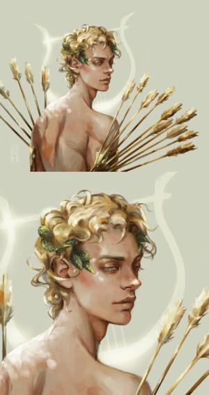 Target, Tumblr, and Apollo: RA za-ra-h:  Finished this drawing of Apollo and his golden arrows. He's my favorite of the Greek mythos.